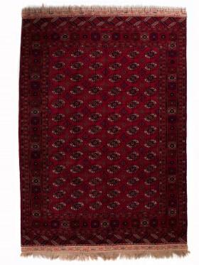 alfombras Bokhara semi-antigua