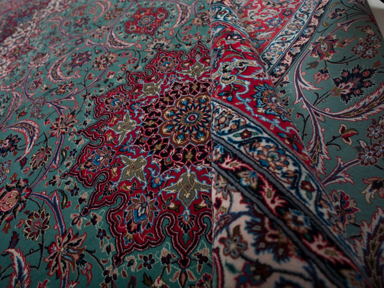 ISFAHAN IRAN URDIMBRE DE SEDA 253 x 159 cm